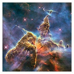 Космические пейзажи. Размер: 25 х 25 см